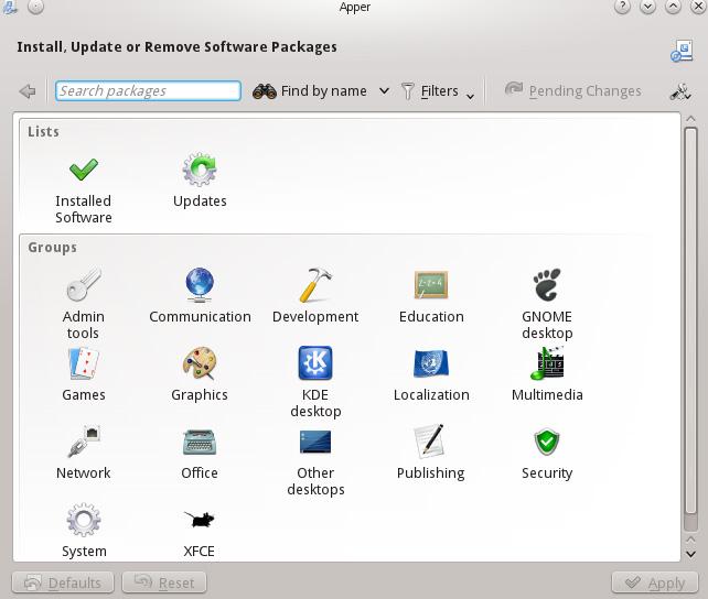 Apper Software Manager