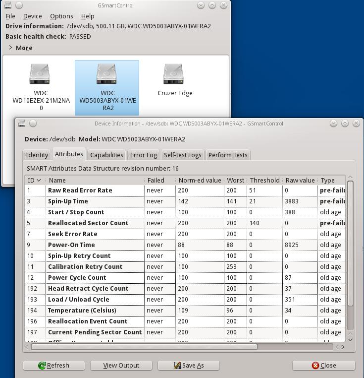 GSmartControl Disk SMART Monitor