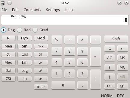 KCalc Scientific Calculator