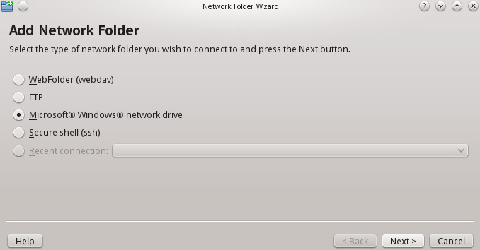 KNetAttach Network Folder Wizard