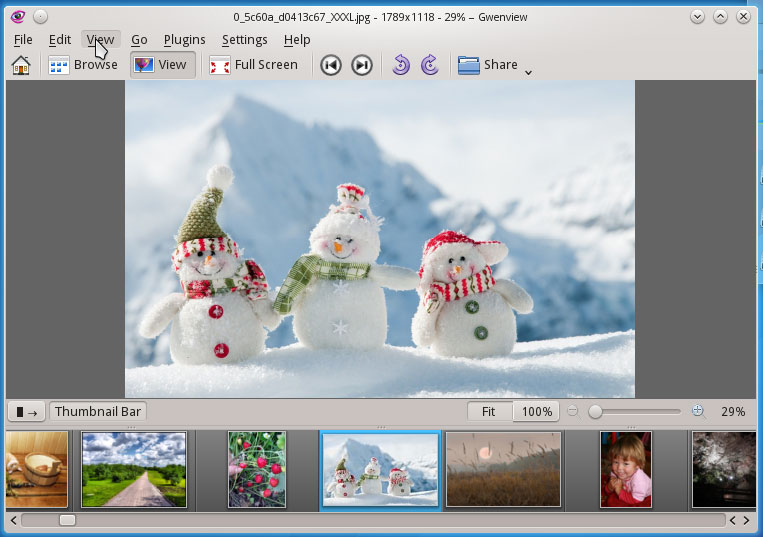 Gwenview KDE Image Viewer