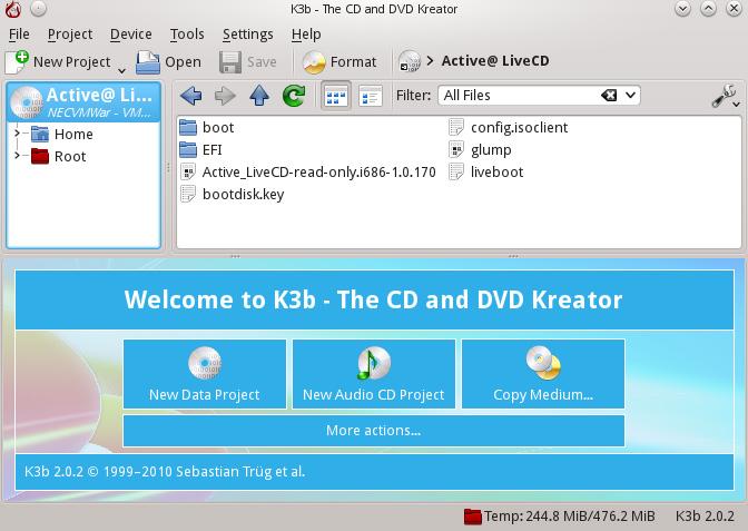 K3b Disk Burning