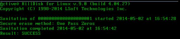 KillDisk for Linux