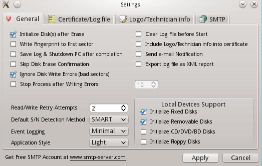KillDisk Settings