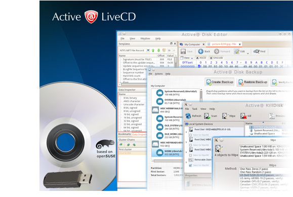 Active@ LiveCD. Ultimate Boot Disk
