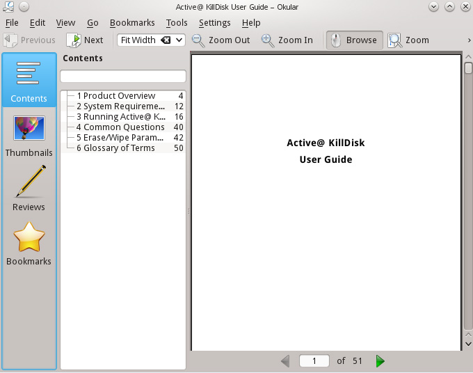 Okular Document Viewer