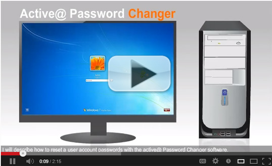 Active@ Password Changer: How to reset Windows password