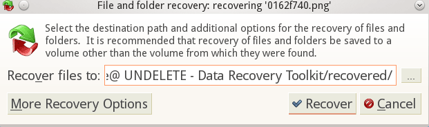 Active@ UNDELETE. Recovery Options